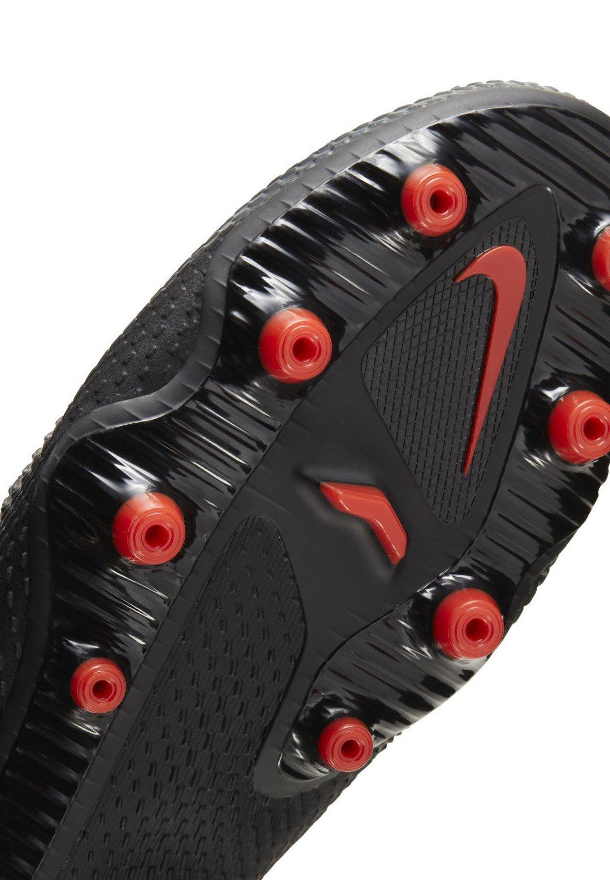 Nike Performance PHANTOM  - Fußballschuh Nocken - black/dark smoke grey/chile red/schwarz - Herrenschuhe L7D0f