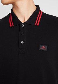 Alpha Industries - TWIN STRIPE NEW - Poloshirt - black/red - 5