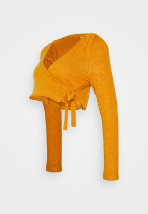 MLEMA WRAP CROP - Jumper - sudan brown melange