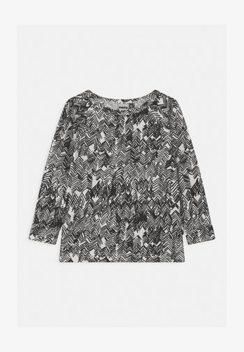 UNISEX - Long sleeved top - gypsum white/black