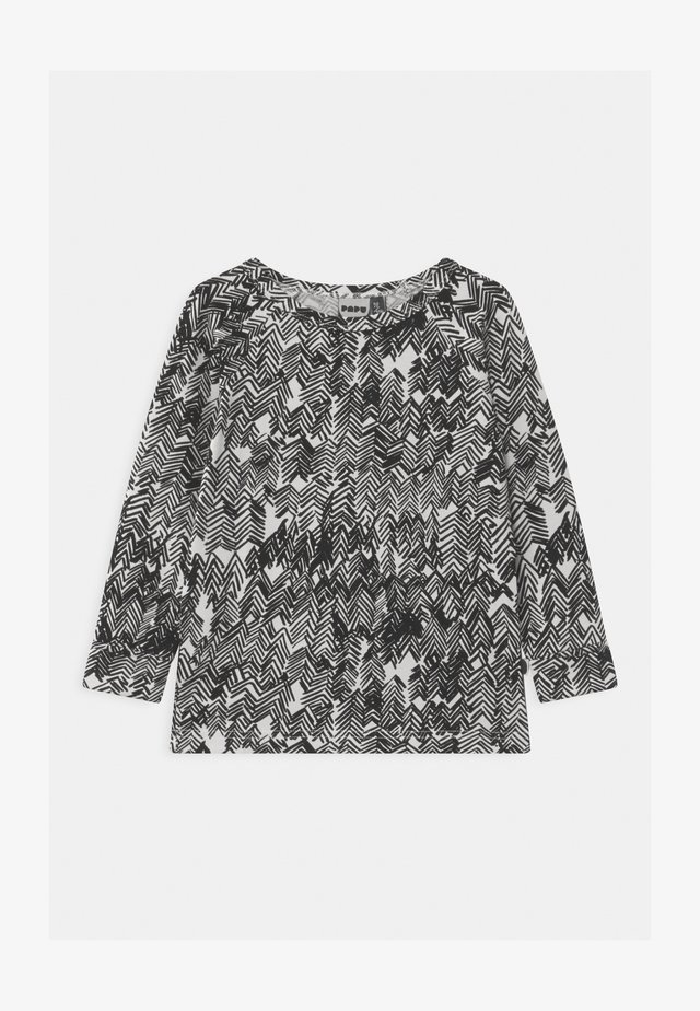 UNISEX - T-shirt à manches longues - gypsum white/black