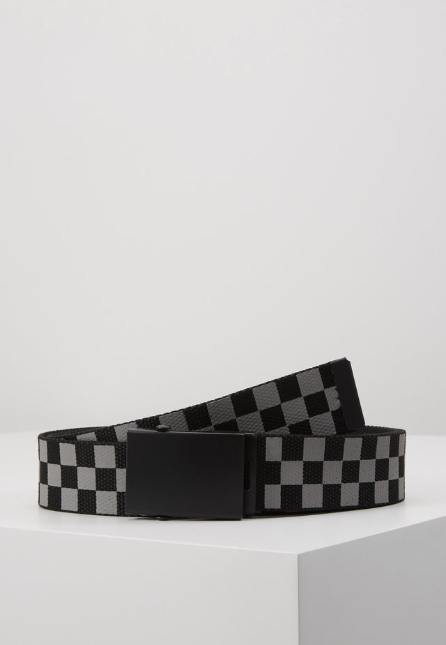 ADJUSTABLE CHECKER BELT - Pásek - black/grey
