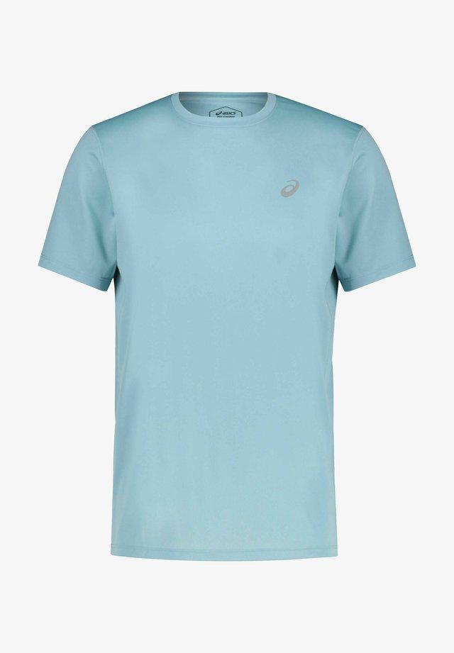 T-shirt sportiva - blau grau