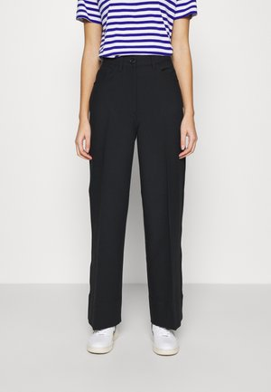 WIDE LEGGED TROUSER - Trousers - black dark