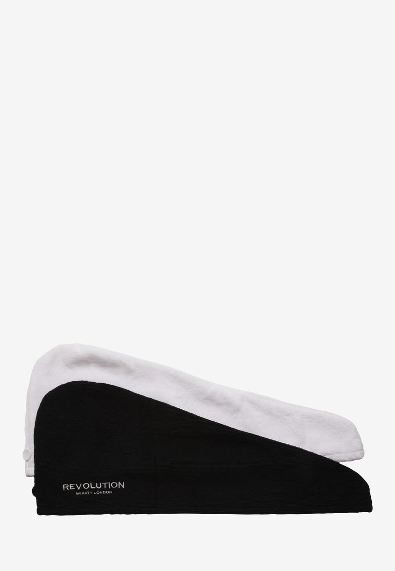 Revolution Haircare - HAIR2PK MICROFIBRE HAIR WRAP  - Hair set - black/white