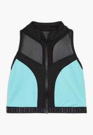 GIRLS ZIP UP - Sport BH - blue radiance