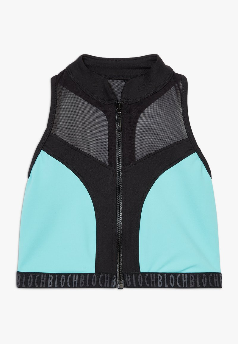 Bloch - GIRLS ZIP UP - Sports bra - blue radiance