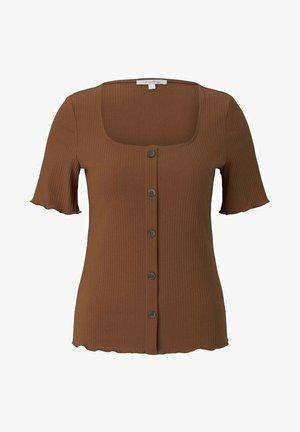 MIT KNOPFLEISTE - Cardigan - amber brown