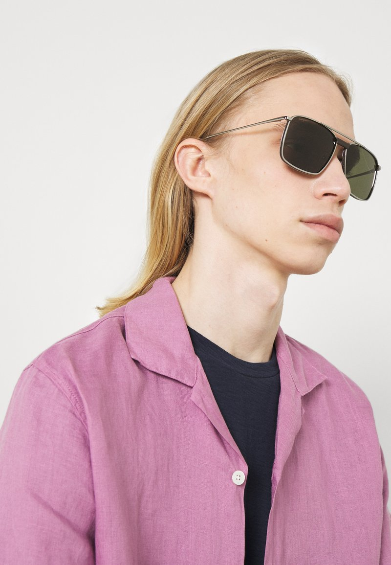 Salvatore Ferragamo - UNISEX - Sunglasses - gunmetal/brown