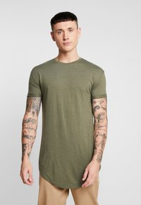 Topman - SCOTTY 2 PACK - Basic T-shirt - beige/khaki - 2