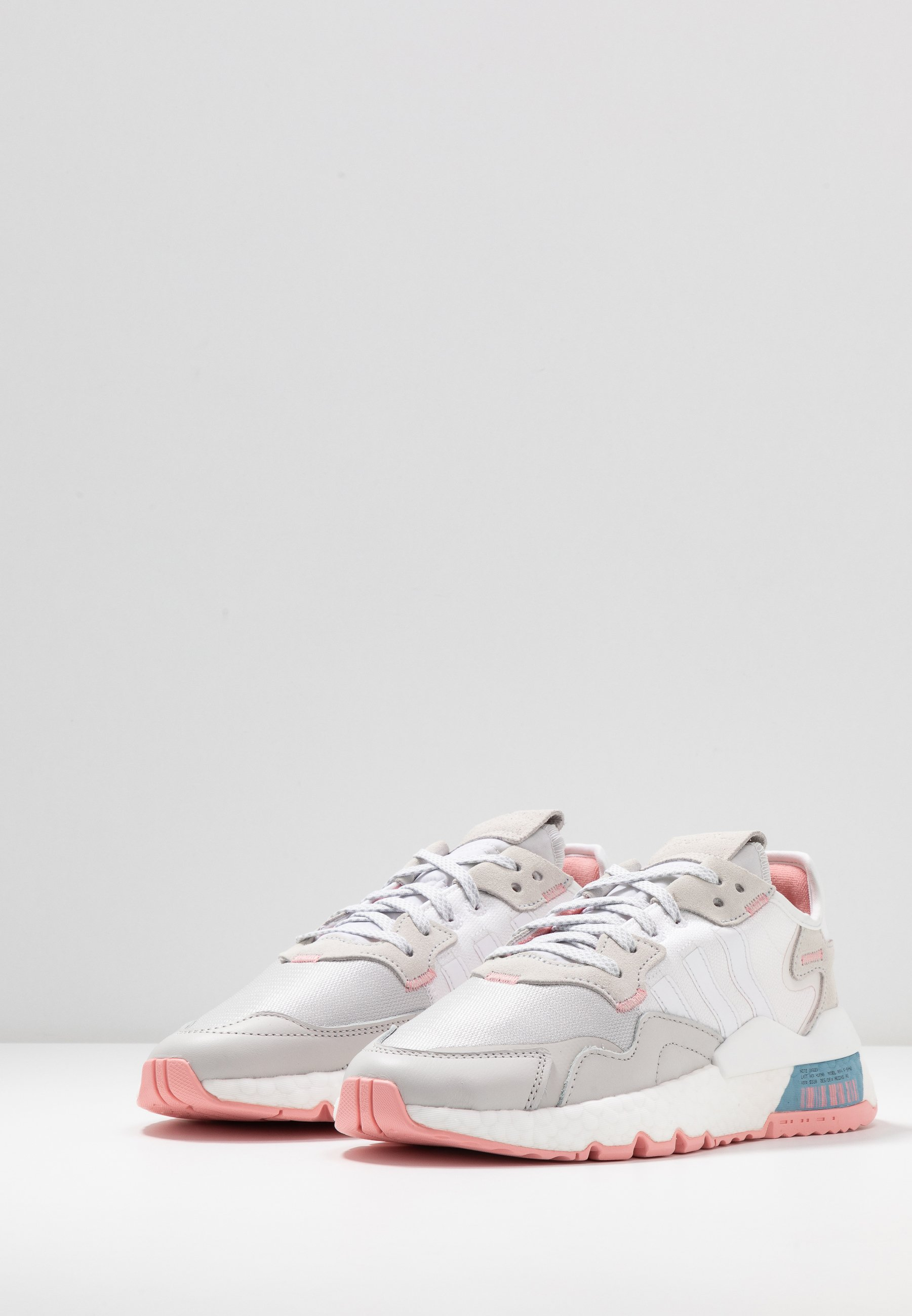 Adidas Originals Nite Jogger - Sneakers Footwear White/glow Pink/grey One