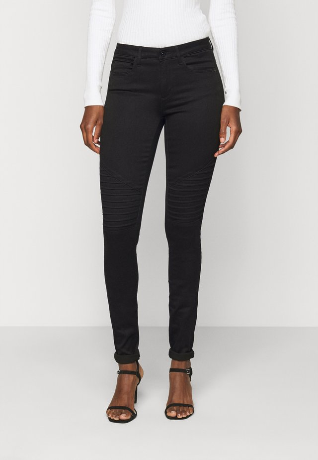 ONLROYAL BIKER - Jeansy Skinny Fit - black