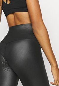 South Beach - WETLOOK HIGHWAIST LEGGING - Tights - black - 5