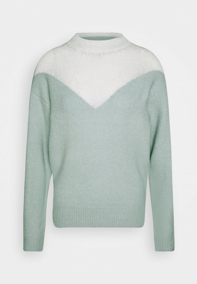 SNOW - Strikpullover /Striktrøjer - green/cream
