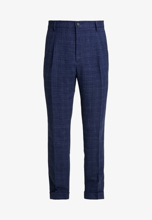 SLIM FIT PLEATED FLEX PANT - Pantalon classique - blue
