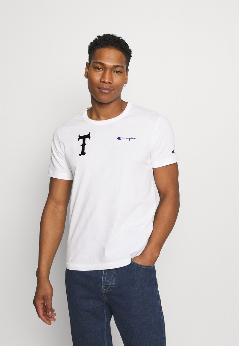 Champion Reverse Weave - CREWNECK TOKYO - T-shirts med print - white