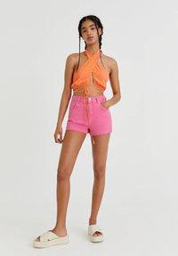 PULL&BEAR - Denim shorts - pink - 1