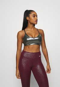Nike Performance - INDY SHIMMER BRA - Sport BH - black/metallic gold - 0