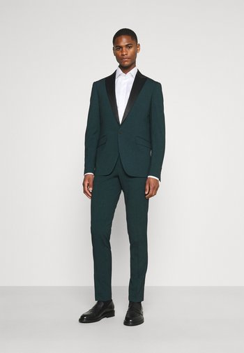 STRETCH TUXEDO SUIT - Kostym - bottle green