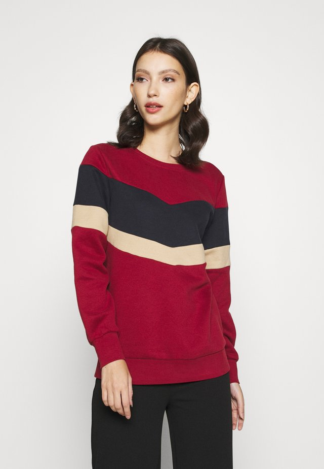 ONLDAKOTA JALENE O NECK - Sweatshirt - merlot/night sky