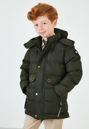 PLUSH KIDS - Zimní bunda - dark khaki