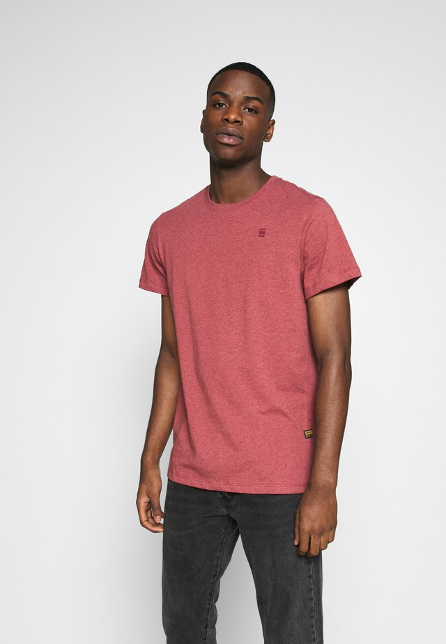 BASE-S R T S\S - T-shirt - bas - dry red htr