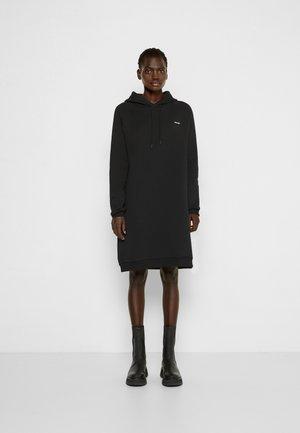 HOLZWEILER HOODIE DRESS - Denní šaty - black