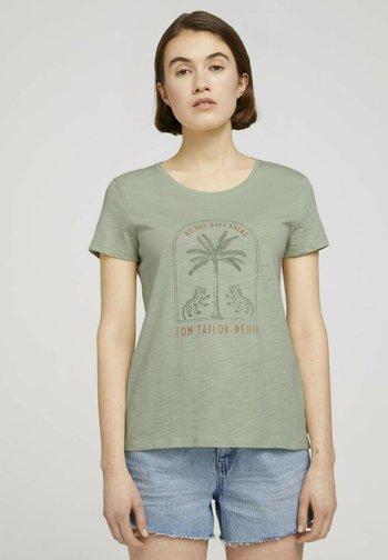 Print T-shirt - light dusty green