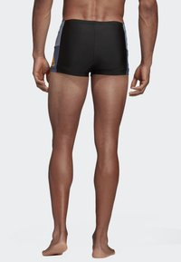 adidas Performance - FITNESS COLORBLOCK SWIM BOXER - Swimming trunks - black - 2
