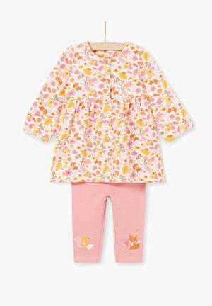 SET - Legging - white, pink