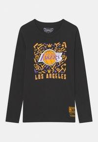 Mitchell & Ness - NBA LA LAKERS TEAM DYNAMIC TEE UNISEX - Camiseta de manga larga - black - 0