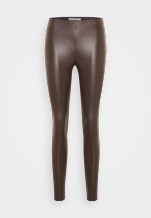 LENA - Legíny - dark brown
