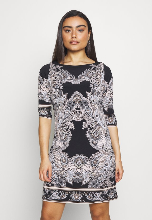 PAISLEY  PRINT SHIFT DRESS - Jersey dress - black