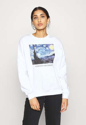 Loose Fit Printed Sweatshirt - Sweatshirts - white