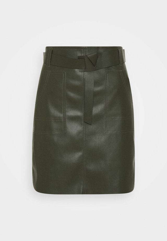 SKIRT FANCY WAISTBELT - Miniskjørt - green