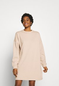Missguided - BASIC  DRESS - Day dress - stone - 0