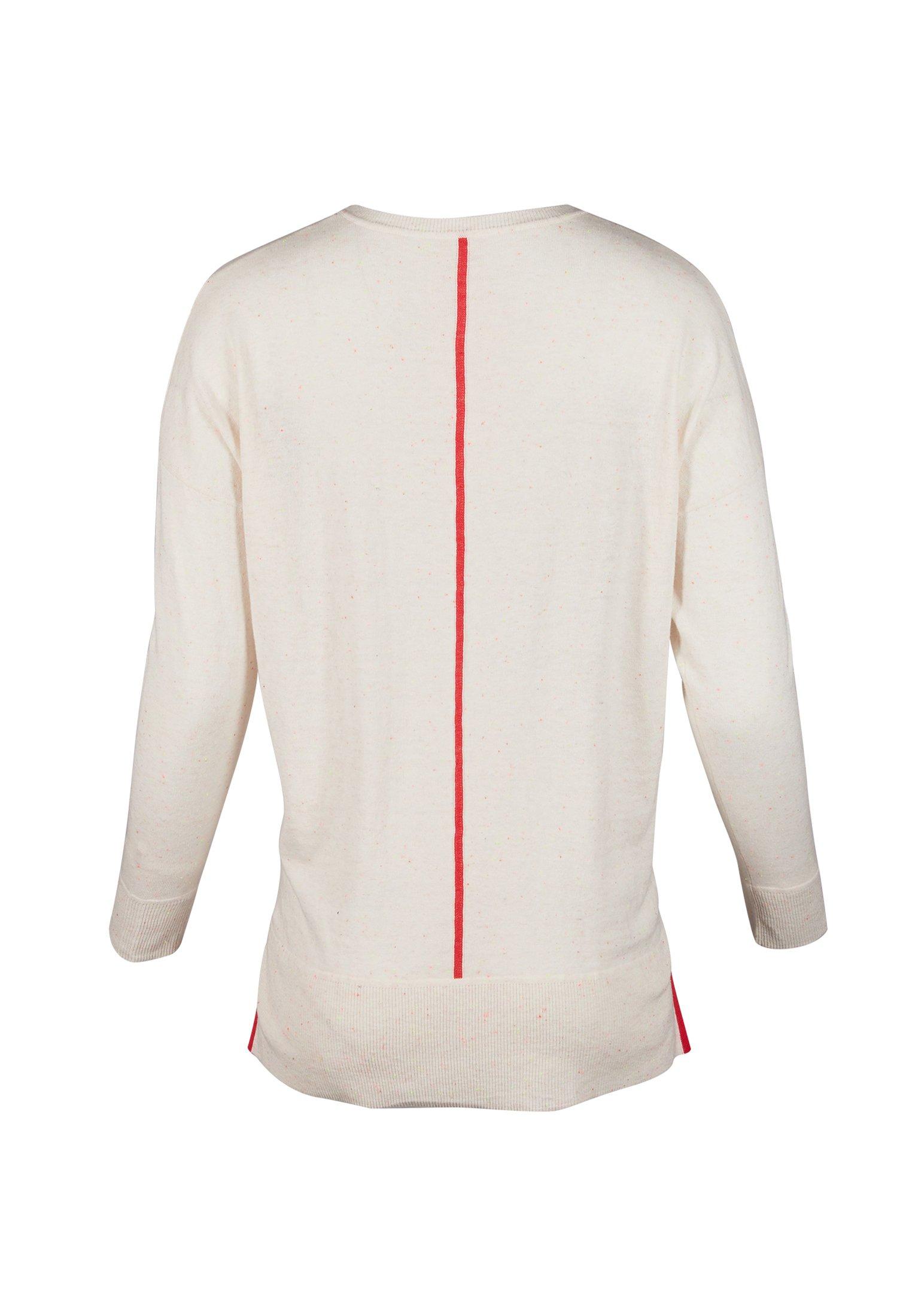 Oliver Bonas NEPPED CONTRAST TRIM  - Pullover - white