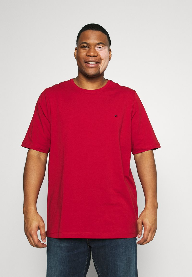 Tommy Hilfiger - SLIM FIT TEE - T-shirt - bas - red
