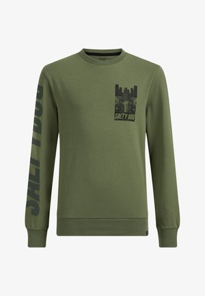 TAPEDETAIL - Long sleeved top - olive green