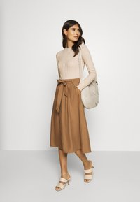 Anna Field - POINTELLE JUMPER - Neule - light tan melange - 1