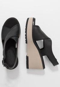 Timberland - KORALYN CROSS BAND - High heeled sandals - black - 1