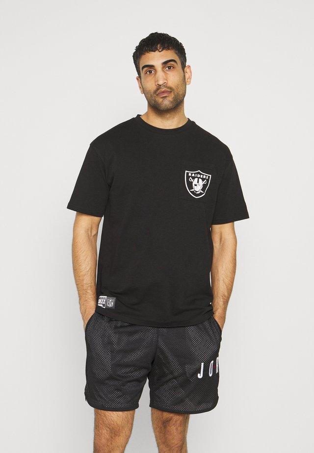 LAS VEGAS RAIDERS NFL BOX LOGO TEE - Triko spotiskem - black