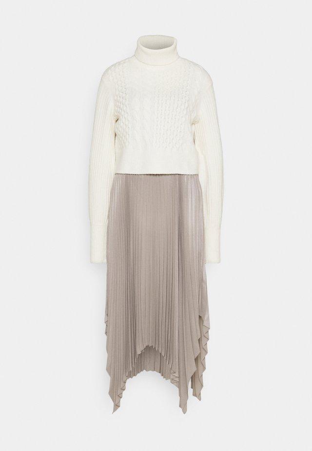 LERIN CARINA DRESS SET - Sweter - white/pearl grey