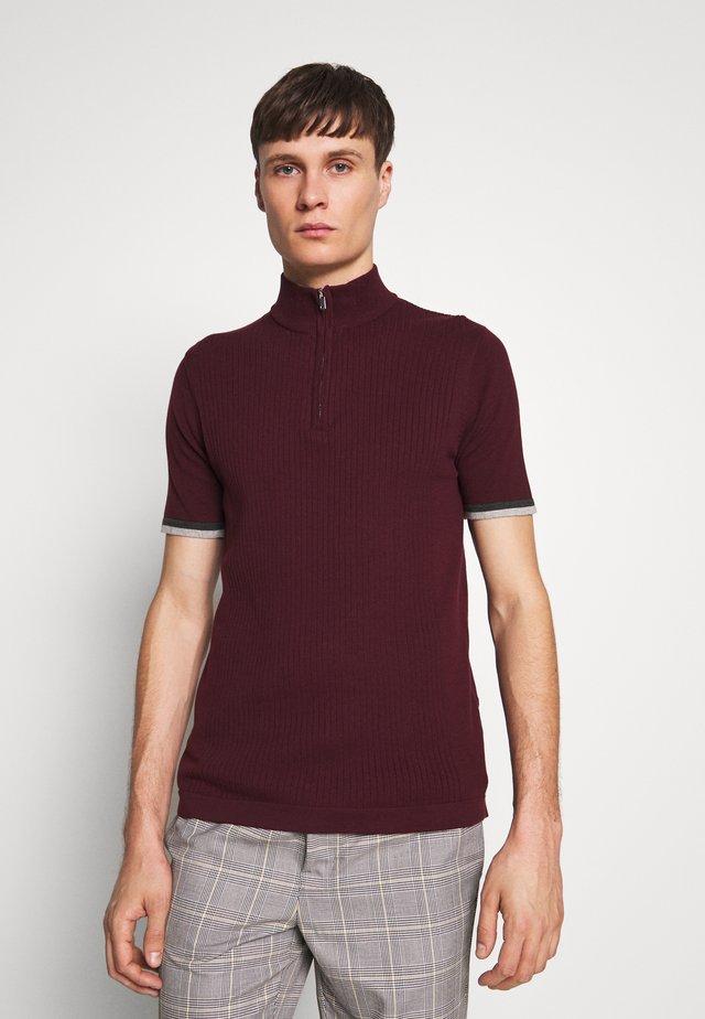 ZIP - Camiseta básica - burgundy