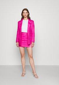 Never Fully Dressed - LINEN HEART POCKET - Blazer - pink - 1