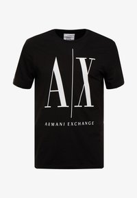 Armani Exchange - T-shirt med print - black - 4