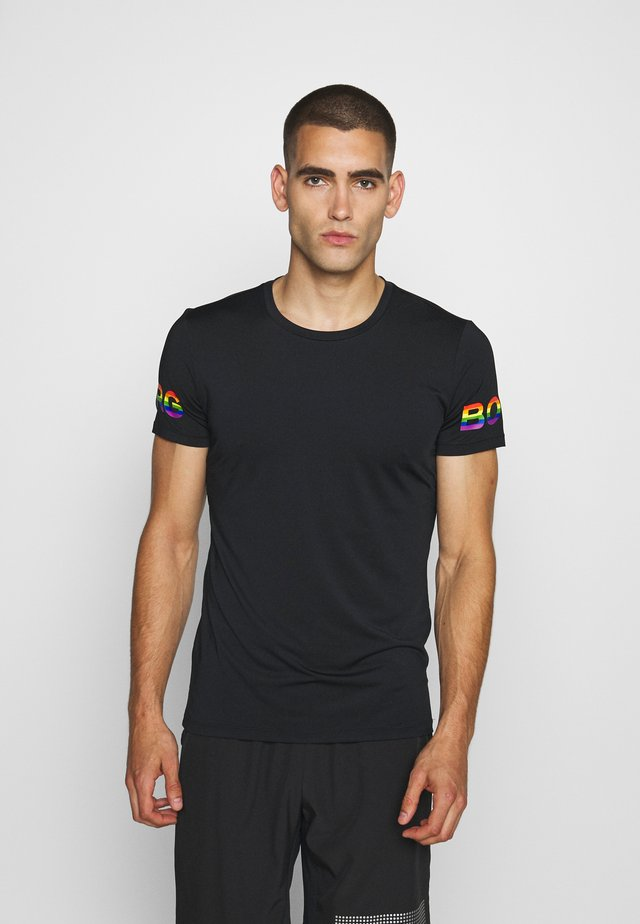 TEE - T-shirt imprimé - black/multi