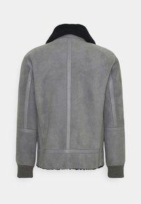 Emporio Armani - Kožená bunda - grey - 1