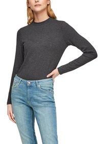 QS by s.Oliver - Long sleeved top - black melange - 5