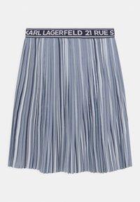 KARL LAGERFELD - Pleated skirt - chambray - 0